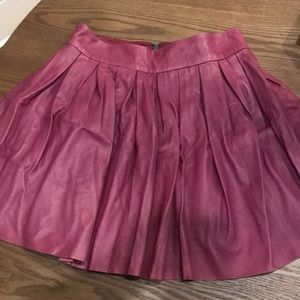 Alice & Olivia pleated leather skirt in size 2